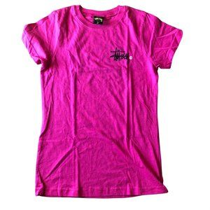 Stussy New Old Stock logo tee Pink Small